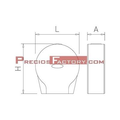 Dispensador de papel higiénico en policarbonato