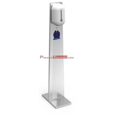 Columna inox de desinfección para gel hidroalcohólico