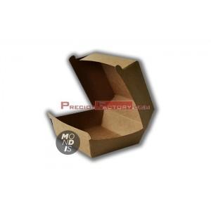 Caja pequeña desechable, para hamburguesa. 5 paquetes de 100 ud. CHK001