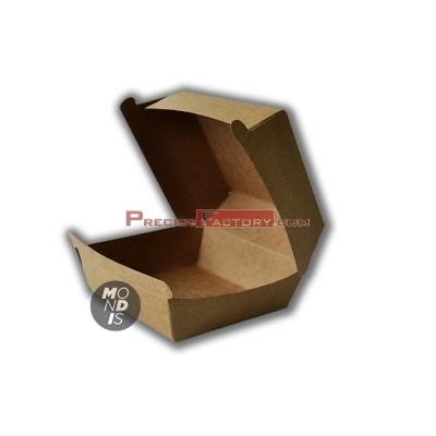 Caja grande desechable, para hamburguesa. 5 paquetes de 100 ud. CHK002