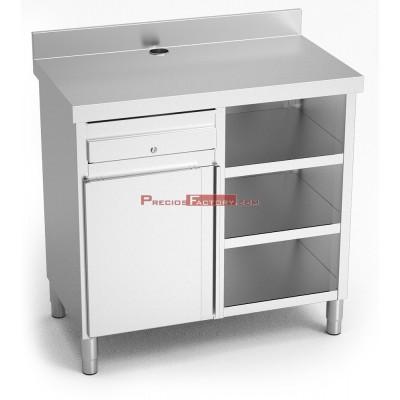 Mueble cafetero inox básic 107x60