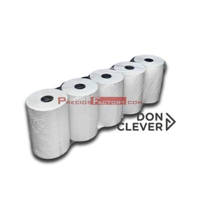 Rollo de papel térmico 80x55 mm. Caja de 20 paquetes de 5 ud