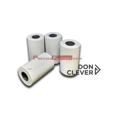 Rollo de papel térmico 57x35 mm. Caja de 22 paquetes de 10 ud