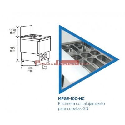 Mesa refrigerada para preparación de ensalada y pizza. MPGE-100-HC