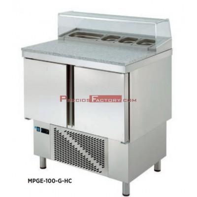 Mesa refrigerada para preparación de ensalada y pizza. MPGE-100-G HC