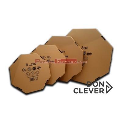 Paellero cartón kraft tamaño S: 43,5x43,5x6 cm