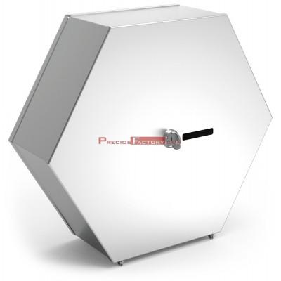 Dispensador inox hexagonal de papel higiénico