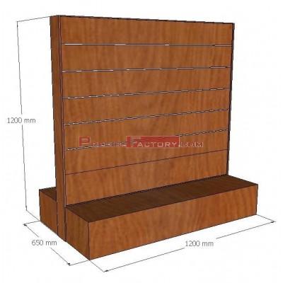 Góndola lineal madera y lamas con o sin ruedas