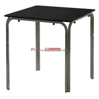 Mesa aluminio con tablero compacto blanco o negro