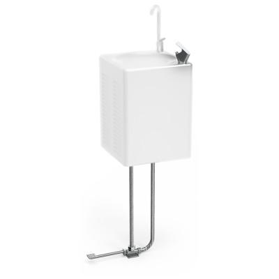 Pedal de accionamiento y grifo sin pulsador opcionales para fuente 464208