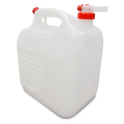 Bidón apilable translúcido 20 litros para fregadero autónomo