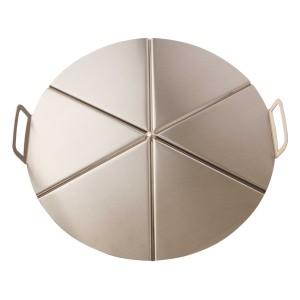 Bandeja de aluminio con asas para pizza 6 porciones