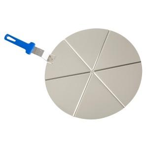 Bandeja de aluminio con mango para pizza 6 porciones