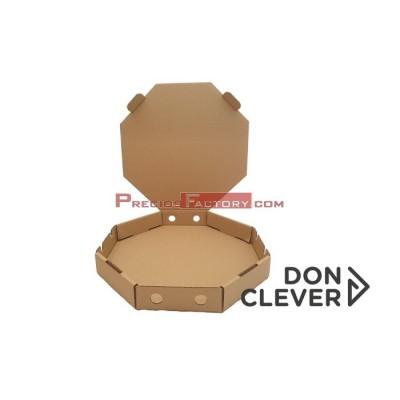 Paellero cartón kraft tamaño M: 52,5x52,5x6 cm.