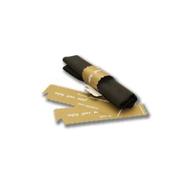 Argolla de 6,3x19,5 cms, para servilleta troquelada y de fcil montaje con impresi¢n de buen provecho en varios idiomas