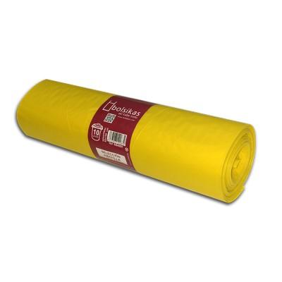 """Bolsa de basura 85x105 amarilla industrial """"selección"""" con soldadura lateral"""