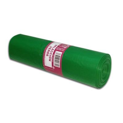 """Bolsa de basura 85x105 verde industrial """"selección"""" con soldadura lateral"""