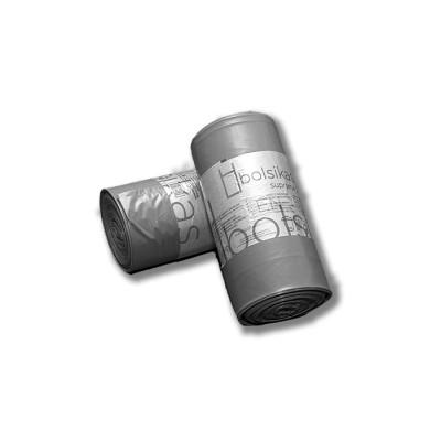 """Bolsa de basura 85x105 gris industrial """"suprema 220"""" BD con tecnología tricapa y anti goteo para cubos de 100 litros"""