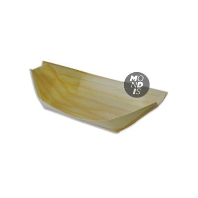 """Bandeja en forma de barco, fabricado en madera de tamaño mediano """"M"""" 19,5x10x2,5 cm"""