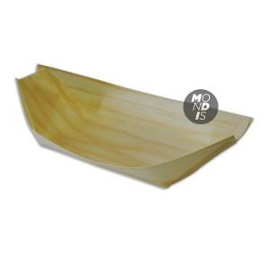 """Bandeja en forma de barco, fabricado en madera de tamaño grande """"L"""" 25x11x2,5 cm"""