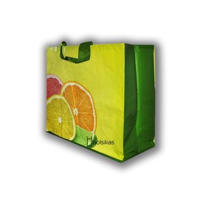Bolsa con asa de rafia para las compras resistentes y reutilizable