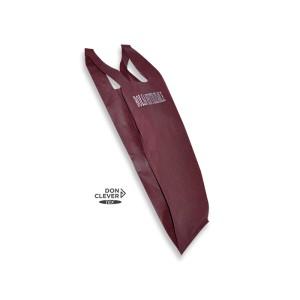 Bolsa de camiseta reutilizable en tejido novotex, de color burdeos
