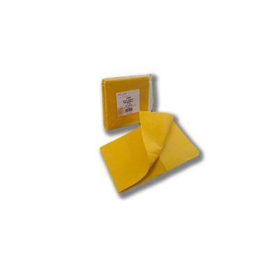 Bayeta de 38x40 cortada de fibra amarilla absorbente