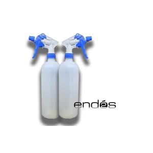 Botella translucida con pulverizador de 1 l de capacidad
