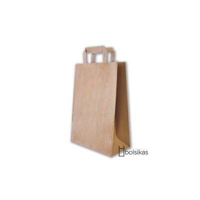 Bolsa de papel kraft con asas planas tamaño S