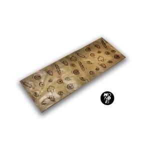 Bolsa de papel kraft para cinco baguettes, 20+5x52 cm