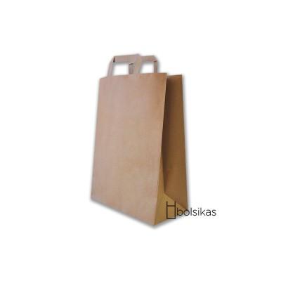 Bolsa de papel kraft con asas personalizada a 1 color