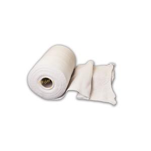 Rollo de bayeta de 2,5 kg, de punto de color blanco, especial para el envasado de jamones y cortar al tamaño deseado