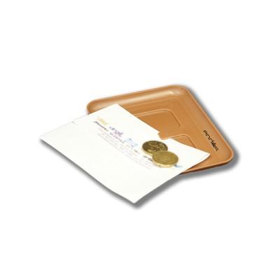 Bandeja para ticket fabricada en plástico de color marrón