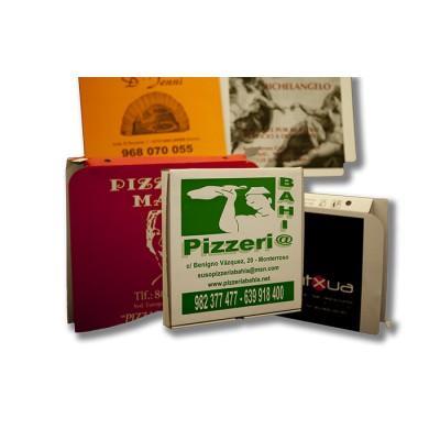 Caja para pizza de 24x24 personalizada, fabricada con cartón blanco y micro ondulado