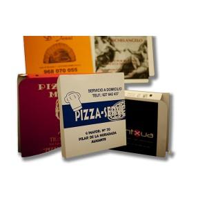 Caja para pizza de 36x36 personalizada, fabricada con cartón blanco y micro ondulado