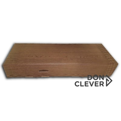 Caja de cartón con diseño imitación madera