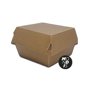 Caja para hamburguesa tamaño M de papel kraft desechable