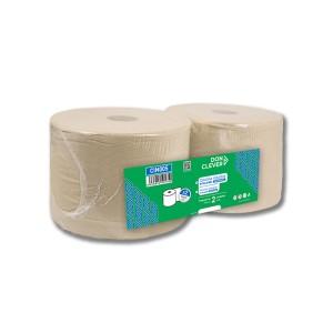 Celulosa Industrial Ecolabel, acabado Gofrado, de 2 capas, con cosido lateral y precorte cada 35 cms