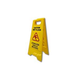 """Cartelera 27x65 cm, de señalización """"piso mojado"""", especial para la señalización de suelo mojado y peligro de deslizamiento"""