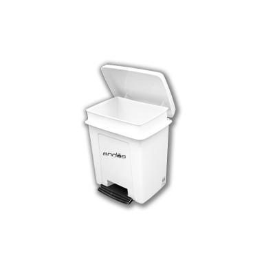 """Papelera 8 litros""""pedalbin"""" de color blanco especial para espacios reducidos, como por ejemplo cuartos de baño"""