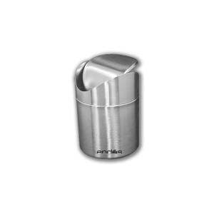 Papelera 1,250 litros mini para barra de acero inoxidable 18/10 (máxima calidad), con tapa desmontable y basculante