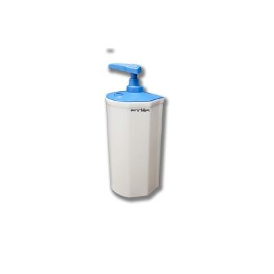 Dosificador de jabón para la pared con pistón especifico para el uso de lavavajillas manual