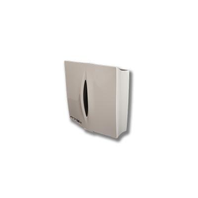 Dispensador para toalla zigzag fabricado en abs de color blanco con llave