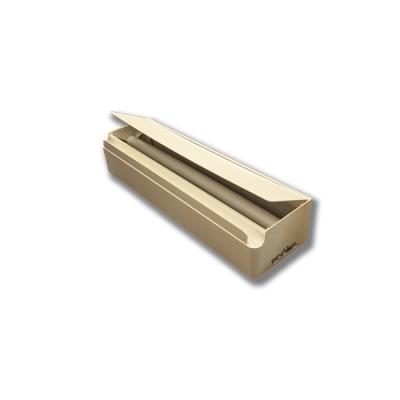 Dispensador fabricado en abs de color blanco con tapa para rollos de hasta 45 cm de ancho para film alimenticio y aluminio