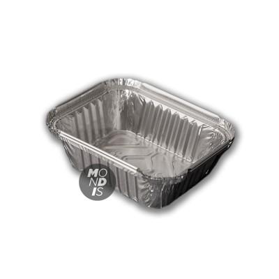"Envase de 500 ml de aluminio rectangular 1 racion ""chino"" , con borde alzado y rizado"