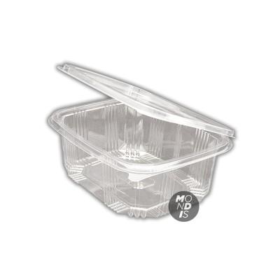 Envase de 1,5 lt transparente de ops con tapa incorporada, de gran transparencia con cierre hermético