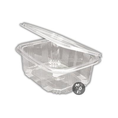 Envase de 2 lt transparente de ops cn tapa incorporada, de gran transparencia con cierre hermético