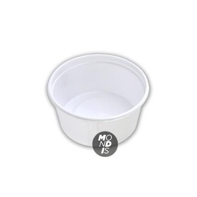 Envase pp de color blanco de 450 ml de plástico con cierre hermético, ideal para granizado, helado, horchata, etc