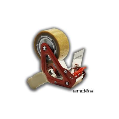 Máquina precintadora 5 cms de ancho con freno de muelle y gatillo, incorpora eliminador de ruido