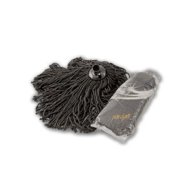 Fregona de 115 gr,de microfibra negra